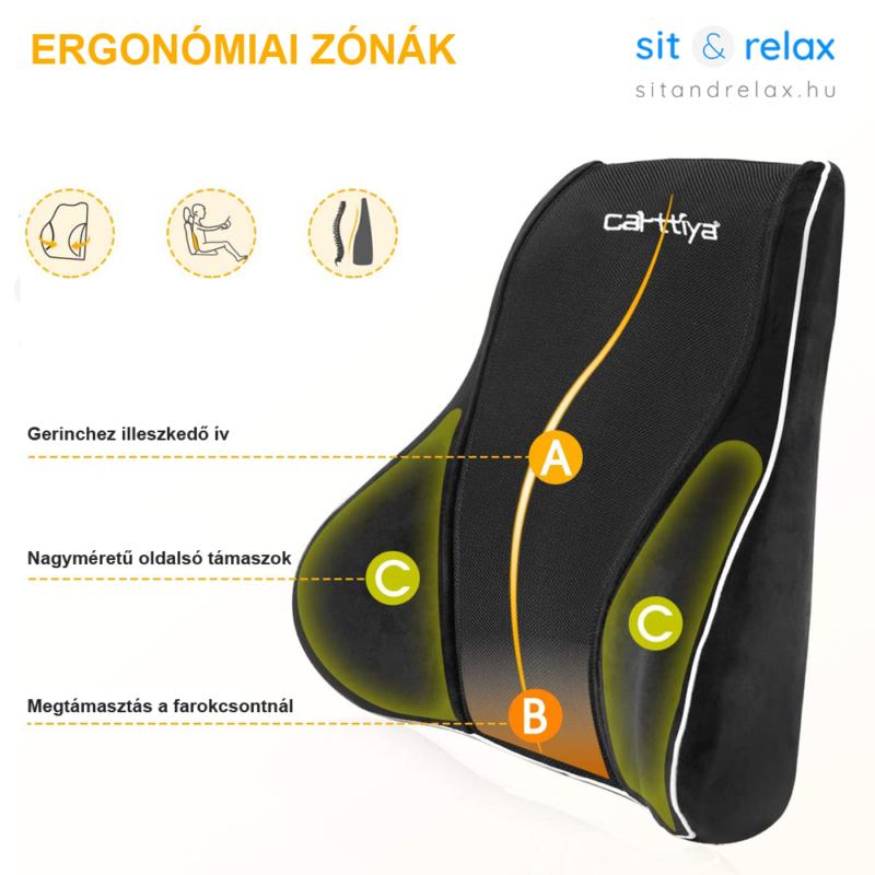deréktámasz ergonómiai zónákkal