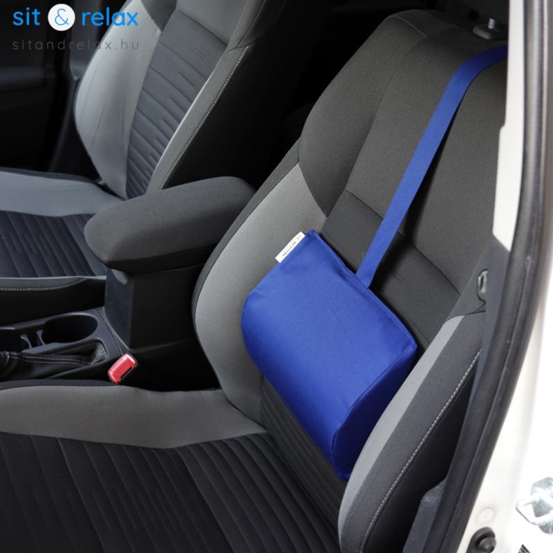 kék színű autós deréktámasz