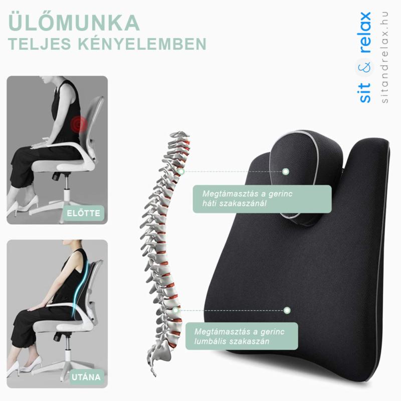 a gerincet két kulcsfontosságú szakaszon is megtámasztja